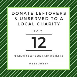 Donate Leftovers & Unserved To A Local Charity