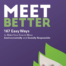Meet Better 167 Easy Ways Book