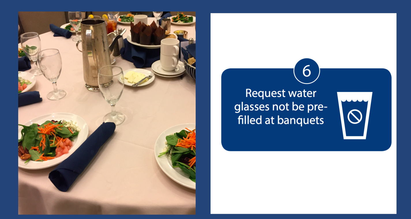Water Glasses Not Prefilled