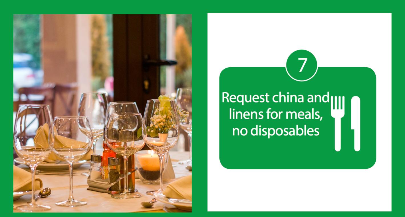 China & Linens No Disposables