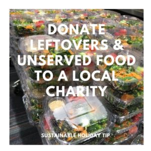 Donate Leftovers & Unserved Food to a Local Charity