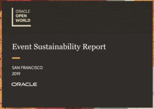 2019 Oracle Open World Sustainability Report