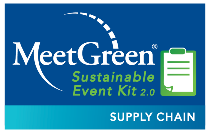MeetGreen Sustainable Event Kit 2.0 - Supply Chain