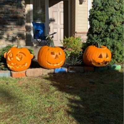 Sustainable and Safe Halloween Tips Decorations Pumpkin Trio